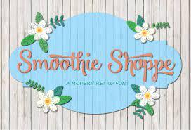 Tipografía vintage para logos: Smoothie Shoppe