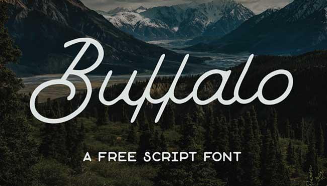 Tipografía vintage gratis para logos: Buffalo