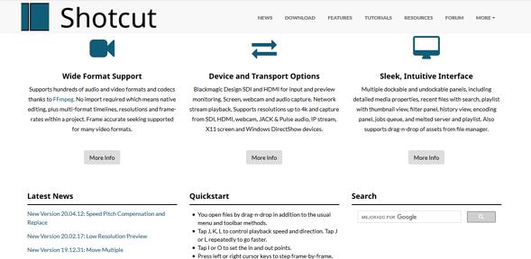 Programas de marketing de contenidos: Shotcut