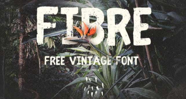 Tipografía vintage gratis para logotipos: Fibre