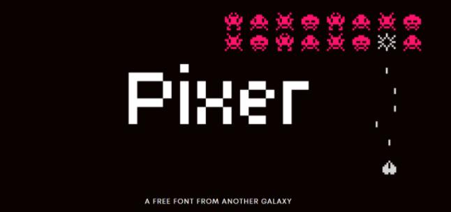 Tipografía creativa y gratuita para logos: Pixer
