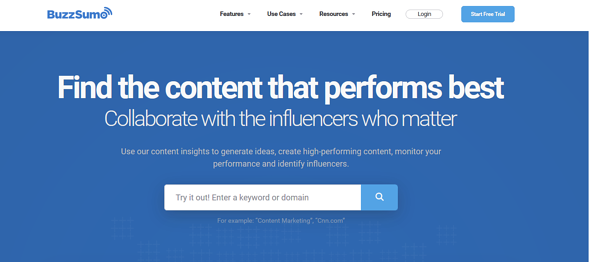 Programas de marketing de contenidos: Buzzsumo