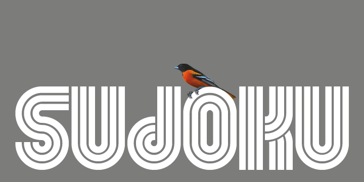 Tipografía creativa para logotipos: Sudoku