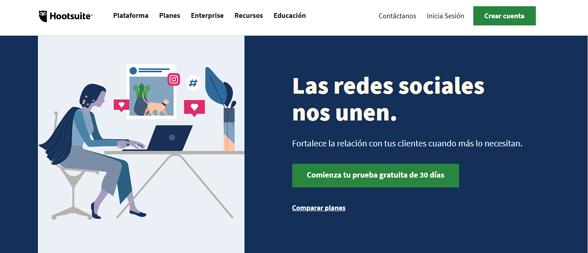 Programas de marketing de contenidos: Hootsuite