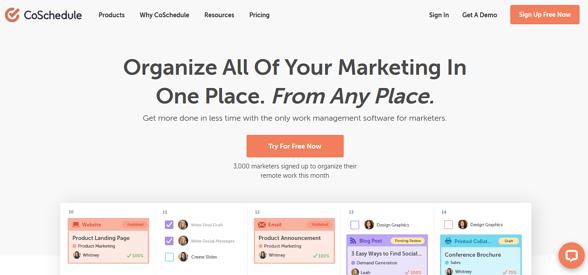 Programas de marketing de contenidos: CoSchedule