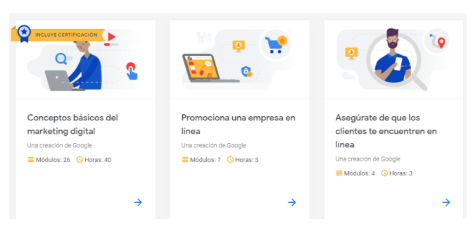 Plataformas educativas de marketing: Google Garage Digital