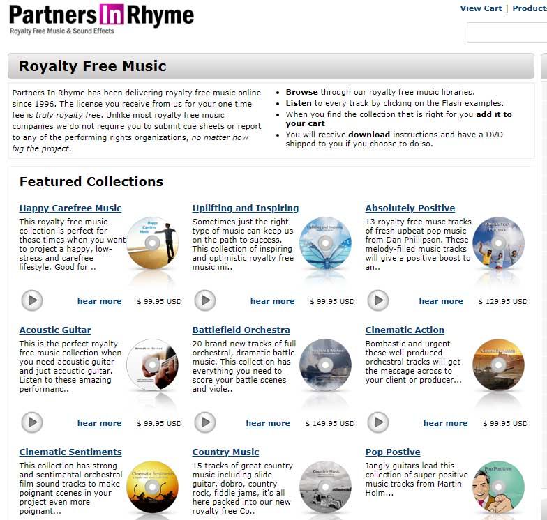 Bancos de música libre de derechos para videos: Partners In Rhyme