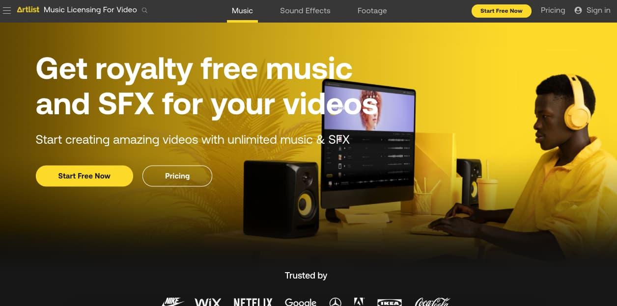 Música para presentaciones gratis: Artlist