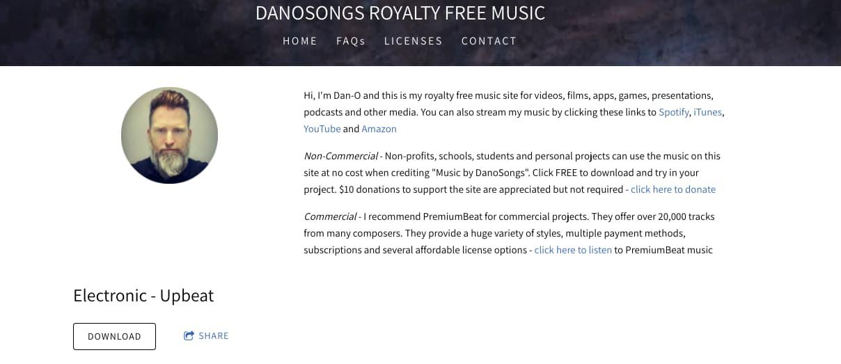 Música para presentaciones gratis: Danosongs
