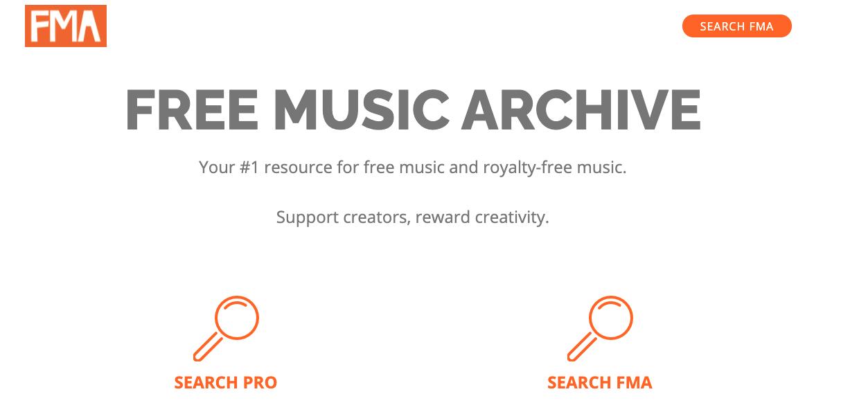 Música para presentaciones gratis: Free Music Archive