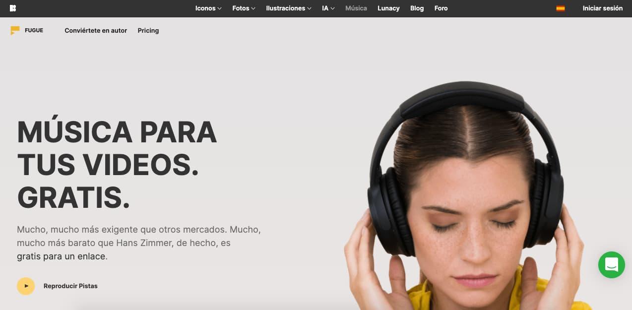 Música para presentaciones gratis: Iconos8