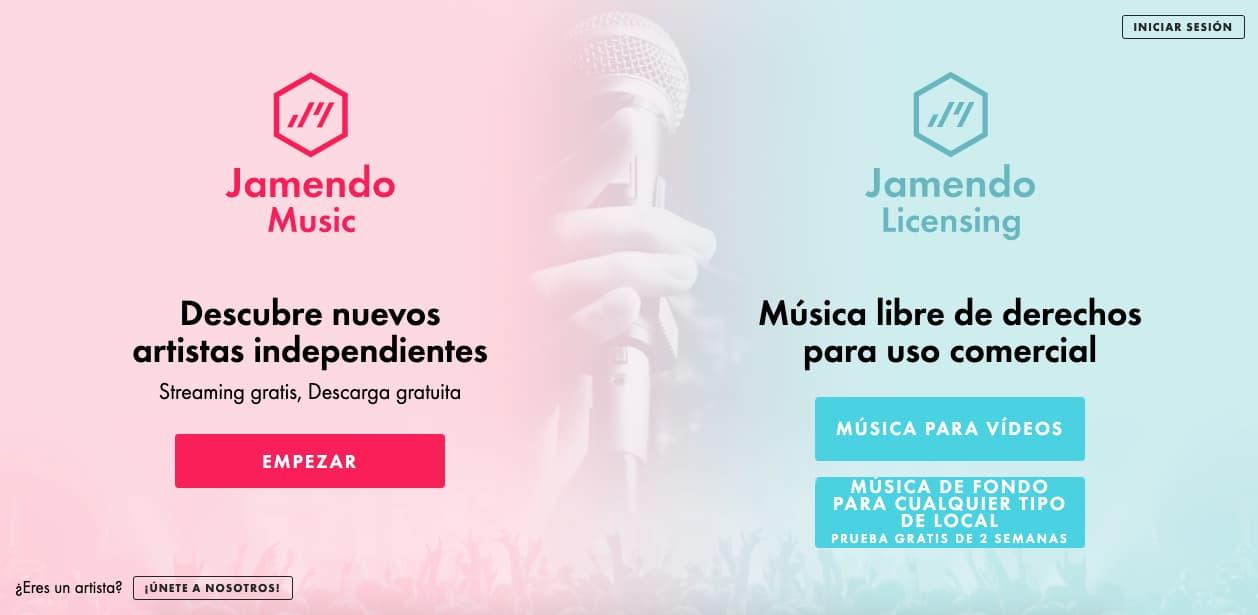 Música para presentaciones gratis: Jamendo