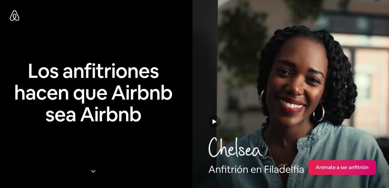 CTA con fondo atractivo de Airbnb