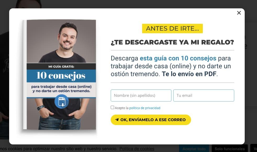 Ejemplo de frases para CTA de haciaelautoempleo.com