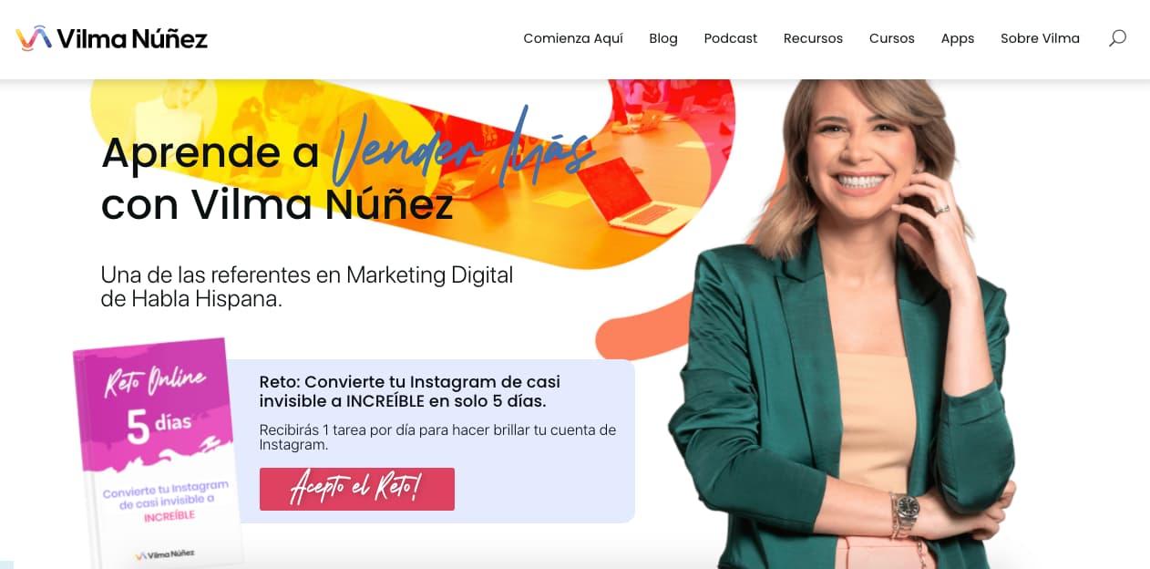 Ejemplo de CTA de Vilma Núñez