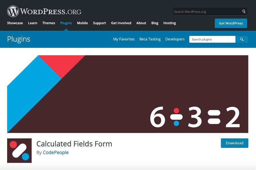 Mejores plugins para formulario de contacto de WordPress: Calculated fields form