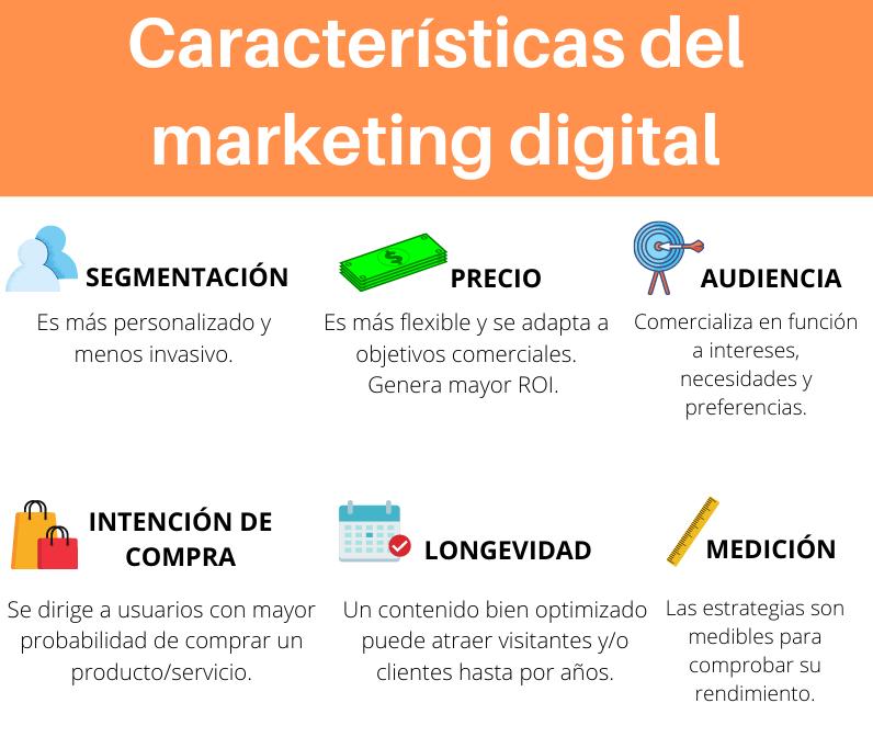 Características y elementos del marketing digital