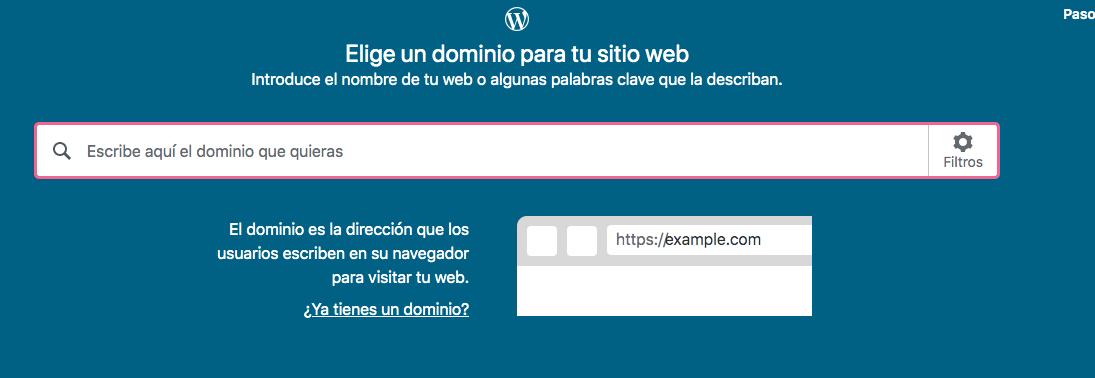Elegir un nombre de dominio en WordPress