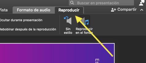Reproducir un audio en PowerPoint