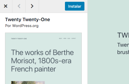 Tema de WordPress popular: Twenty Twenty-One