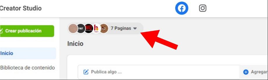 Cómo programar publicaciones en Facebook: selecciona una página o cuenta
