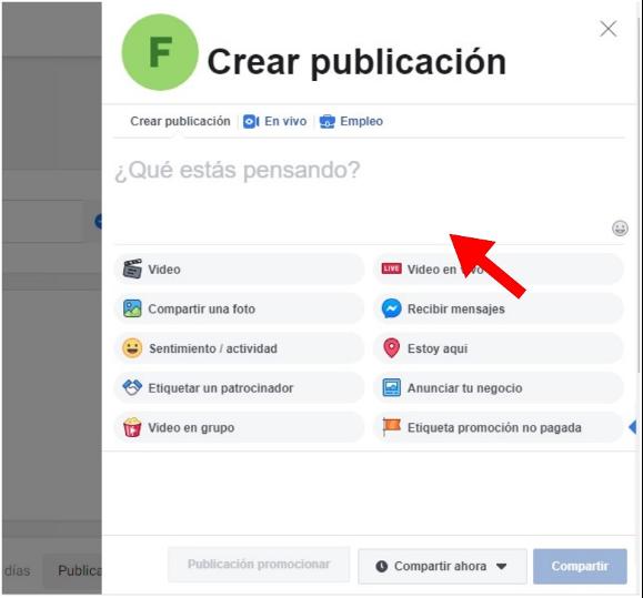Cómo programar publicaciones en Facebook: crea tu publicación