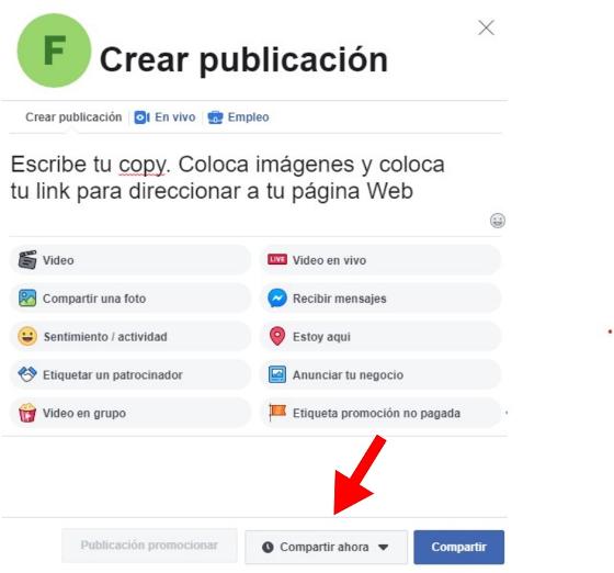 Cómo programar publicaciones en Facebook: programa tu publicación