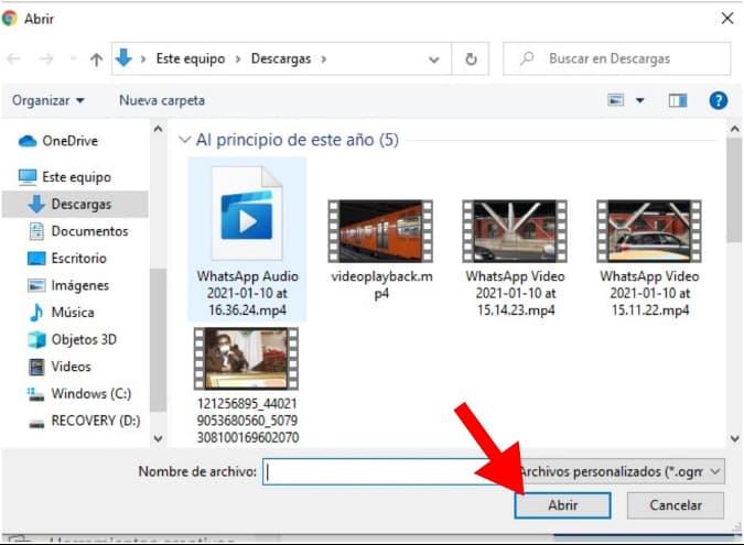 Cómo subir un video a Facebook: selecciona tu video y llena las casillas de información