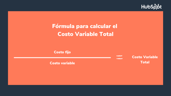 Fórmula para calcular el costo variable total