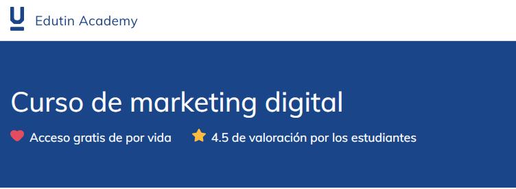 Curso de marketing digital de Edutin Academy