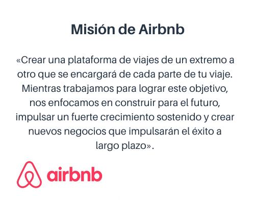 Misión y visión de una empresa: Airbnb
