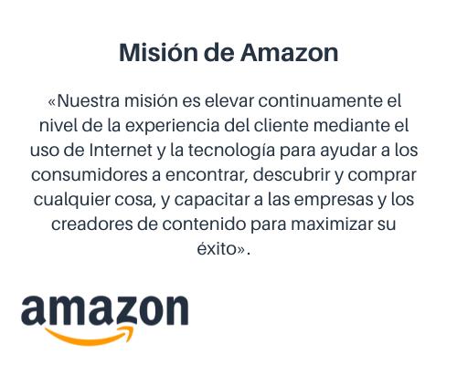 Cómo redactar una misión y visión: ejemplo de Amazon