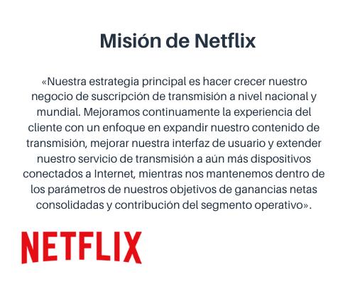 Misión y visión de una empresa: Netflix