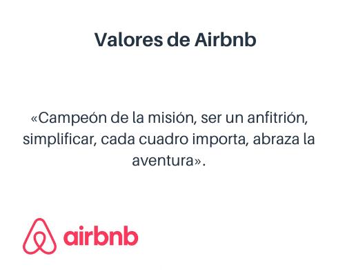 Ejemplos de valores de una empresa: Airbnb