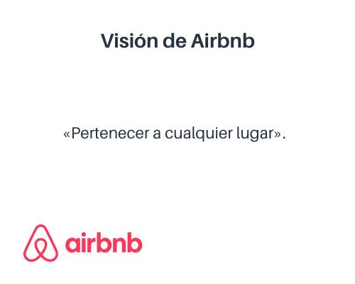 Misión y visión de una empresa: visión de Airbnb