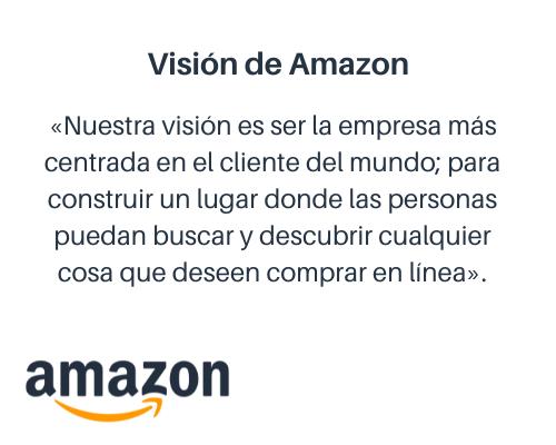 Cómo redactar una misión y visión: ejemplo de visión de Amazon