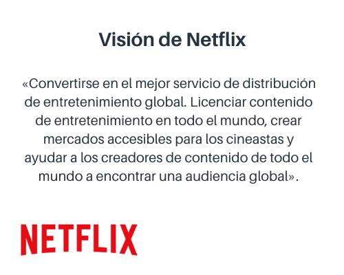 Misión y visión de una empresa: visión de Netflix