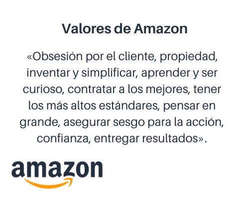 Ejemplos de valores empresariales: Amazon