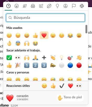 Cómo usar Slack: reacciones