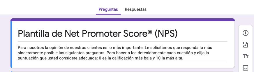 Modelo de encuesta de satisfacción del cliente: NPS