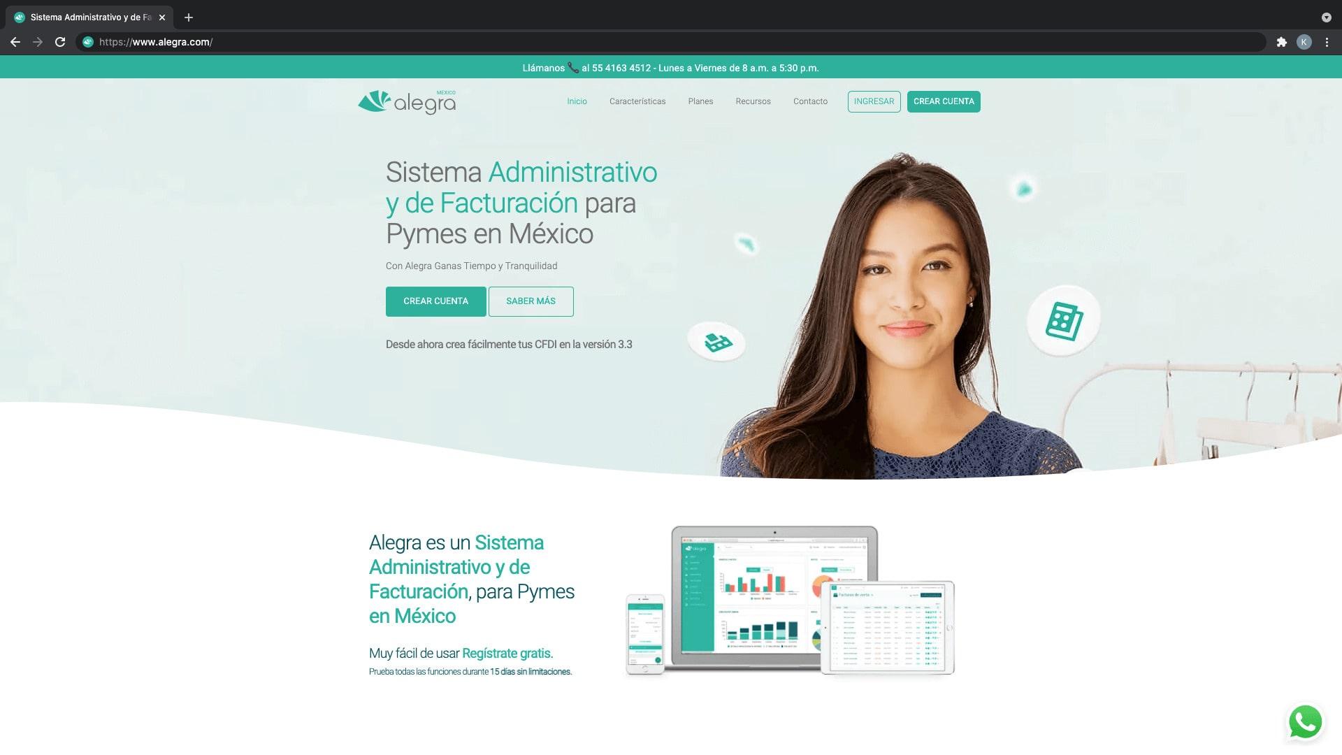 Alegra, plataforma de facturación en línea