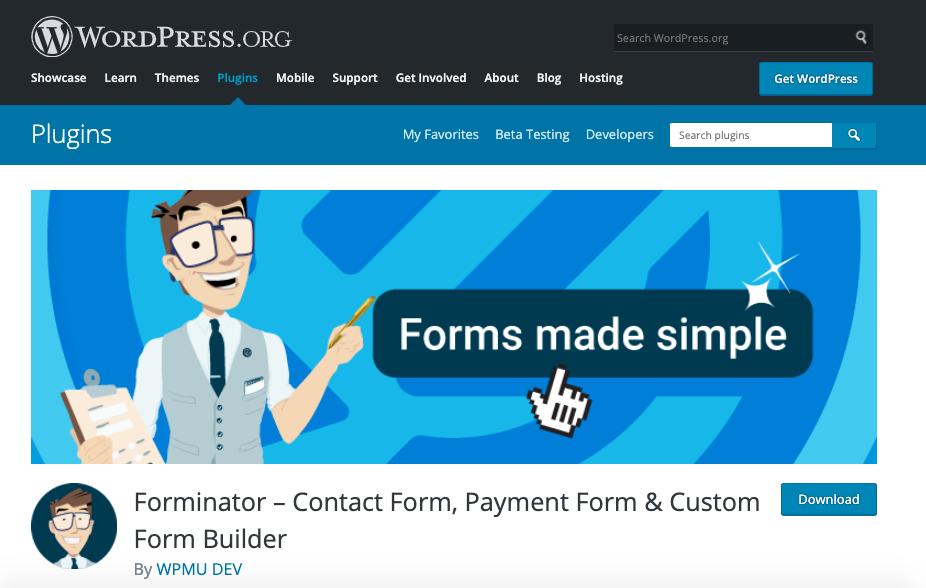 Mejores plugins para formulario de contacto de WordPress: Forminator