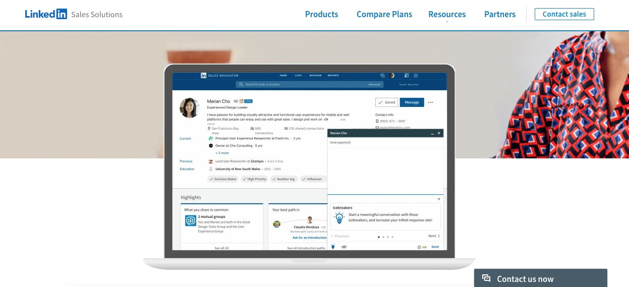 Mejores herramientas para el departamento de ventas: LinkedIn Sales Solutions