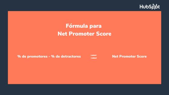 Fórmula del indicador de retención de clientes sobre NPS