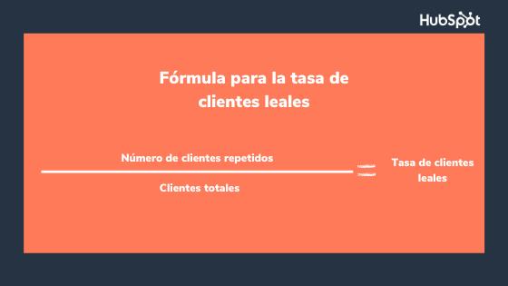 Fórmula del indicador de retención de clientes leales