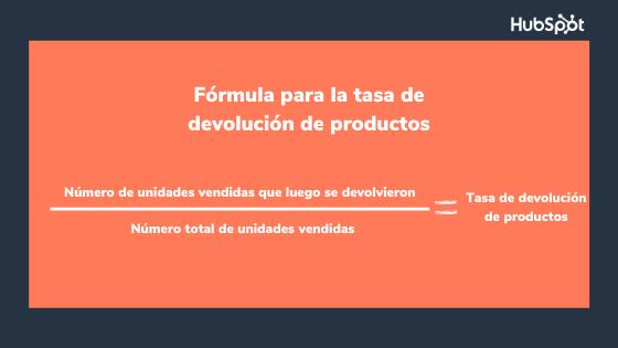 Fórmula del indicador de retención de clientes sobre devolución de productos