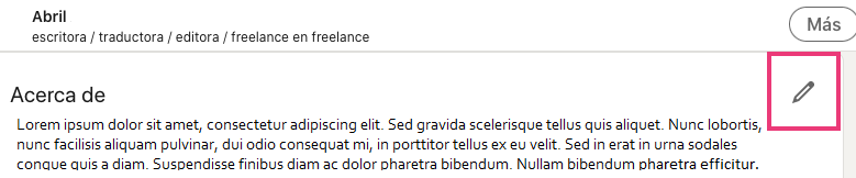 Cómo editar un extracto en LinkedIn