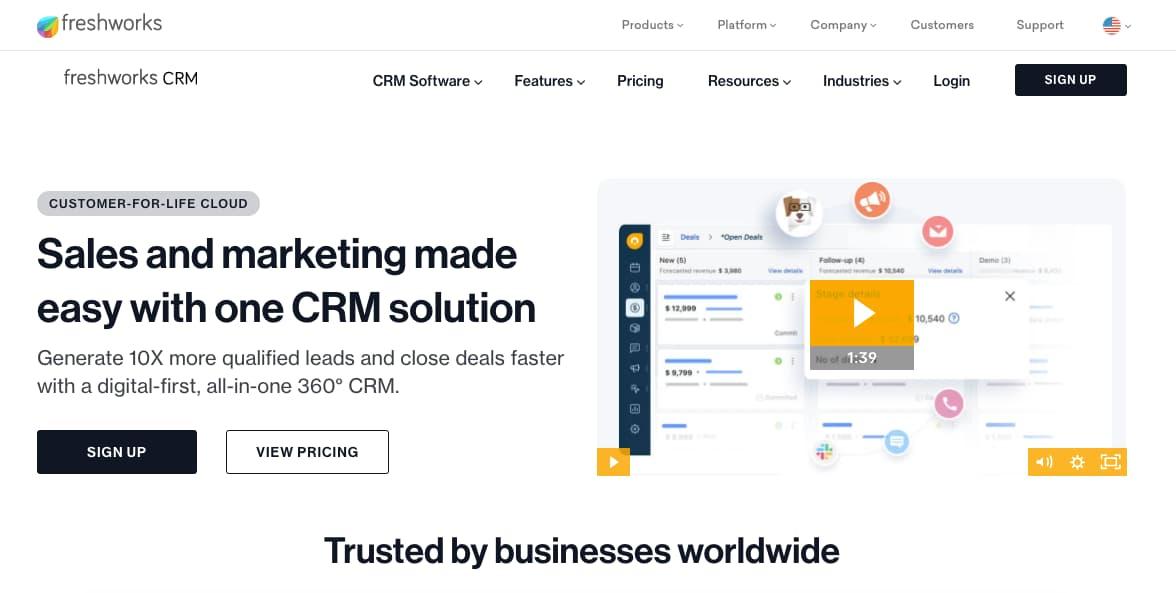 Plugins CRM para WordPress: Freshworks