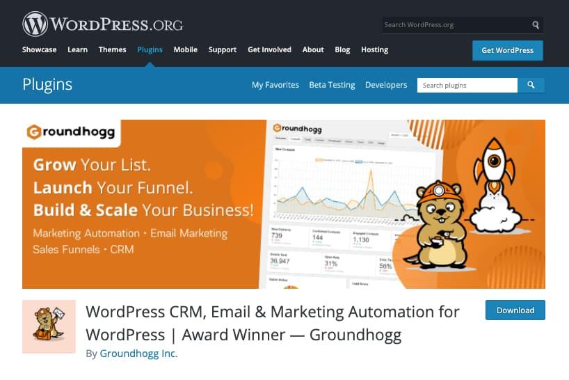Plugins CRM para WordPress: Groundhogg