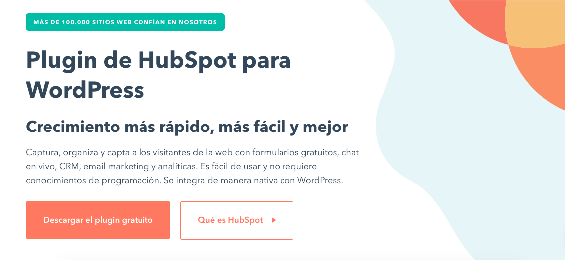 Plugins CRM para WordPress: HubSpot